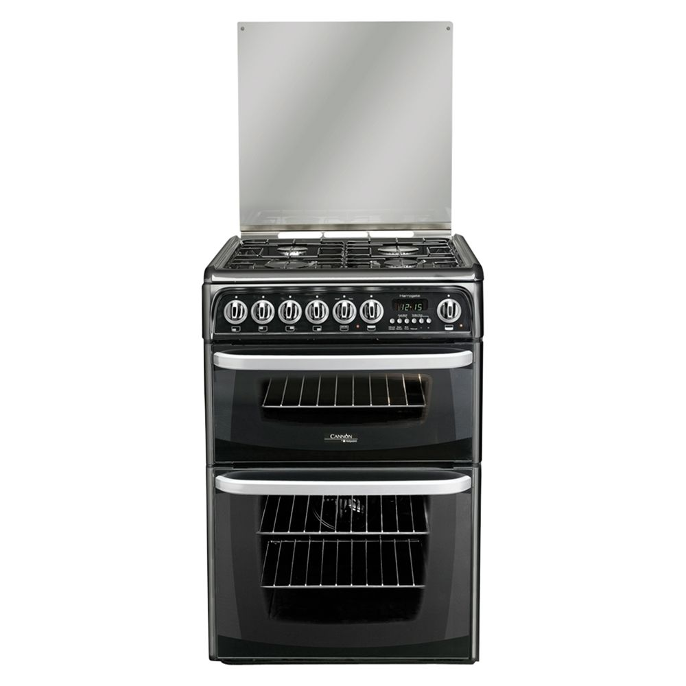 Hotpoint Cannon CH60DHKFS Dual Fuel Cooker Black