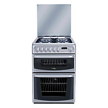 Buy Hotpoint Cannon CH60DHSFS Dual Fuel Cooker, Silver Online at johnlewis.com