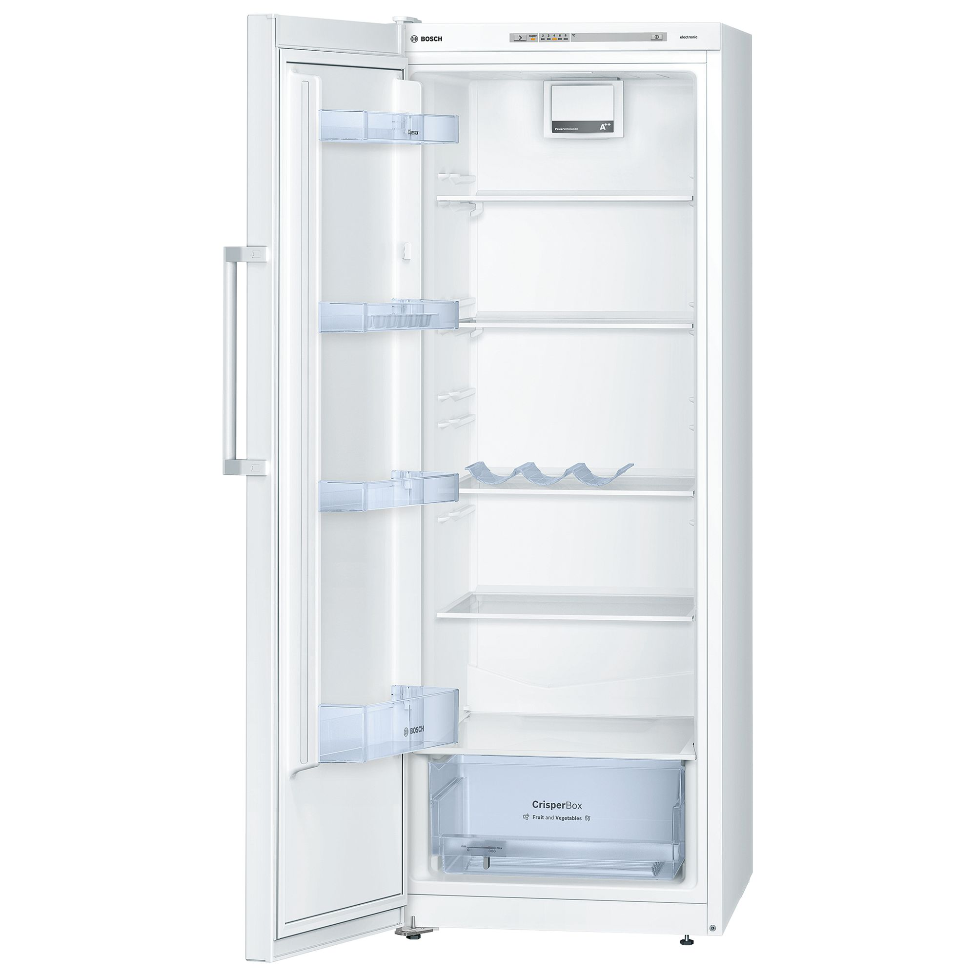 Bosch KSV29NW30G Tall Larder Fridge, A++ Energy Rating, 60cm Wide, White
