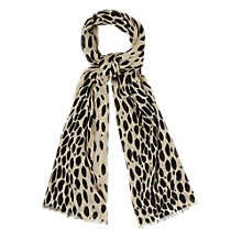 Buy Hobbs Animal Scarf, Ivory/Black Online at johnlewis.com