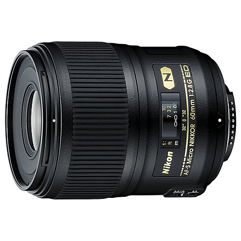 Buy Nikon FX 60mm f/2.8G ED AF-S Micro Lens Online at johnlewis.com