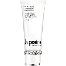 Buy La Prairie White Caviar Illuminating Hand Cream SPF 15, 100ml Online at johnlewis.com