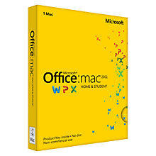 Buy Microsoft Office 2011 Home and Student Edition for Mac, 1 User Online at johnlewis.com