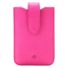 Buy Mulberry Glossy Goat Leather Cover with Tab for iPhone 4 & 4S Online at johnlewis.com