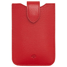 Buy Mulberry Shiny Goat Leather Cover with Tab for iPhone 4, Bright Red Online at johnlewis.com