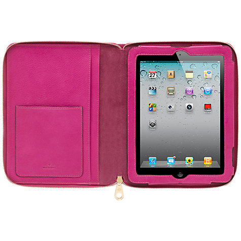 Buy Mulberry Glossy Goat Folio for 3rd & 4th Generation iPad, Pink Online at johnlewis.com
