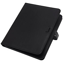 Buy Mulberry Adjustable Hand Rolled Leather Sleeve for iPad 2, Black Online at johnlewis.com
