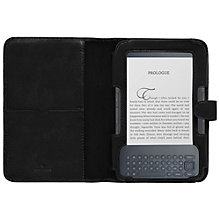Buy Mulberry Leather Case for Kindle Keyboard, Black Online at johnlewis.com