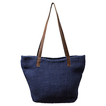 Buy East Leather Handle Jute Handbag Online at johnlewis.com
