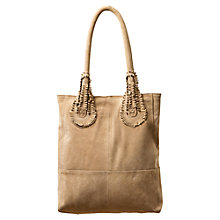 Buy East Handle Detail Suede Tote Handbag, Natural Online at johnlewis.com