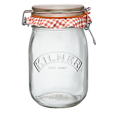 Buy Kilner Clip-top Round Preserving Jar, 1L Online at johnlewis.com