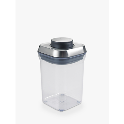 "OXO Good Grips Square ""POP"" Storage Container, Steel, 0.9L"