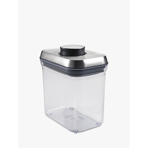 "Buy OXO Good Grips Rectangular ""POP"" Storage Container, Steel, 1.4L Online at johnlewis.com"