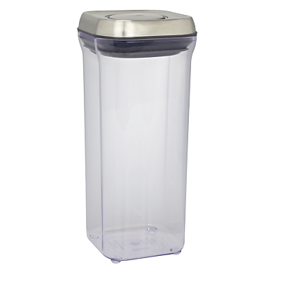 """OXO Good Grips Square """"POP"""" Storage Container, Steel, 1.4L"""
