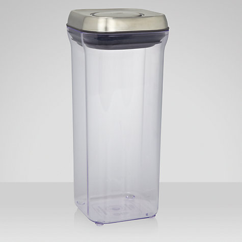 "Buy OXO Good Grips Square ""POP"" Storage Container, Steel, 1.4L Online at johnlewis.com"