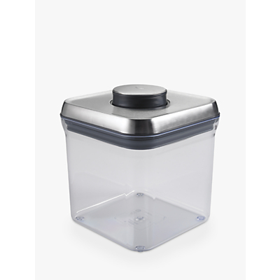 "OXO Good Grips Square ""POP"" Storage Container, Steel, 2.3L"