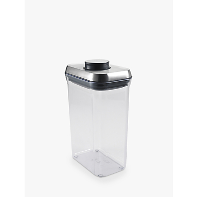 "OXO Good Grips Rectangular ""POP"" Storage Container, Steel, 2.4L"