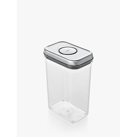 "Buy OXO Good Grips Rectangular ""POP"" Storage Container, Steel, 2.4L Online at johnlewis.com"