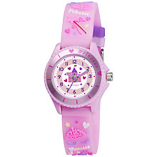 Buy Tikkers TK0036 Princess Children's Watch, Pink Online at johnlewis.com