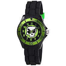 Buy Tikkers TK0047 Children's Rubber Strap Watch, Black / Green Online at johnlewis.com