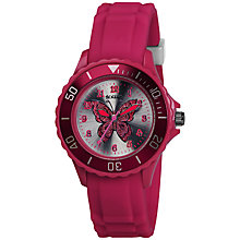 Buy Tikkers Tk0051 Children's Pink Butterfly Watch Online at johnlewis.com