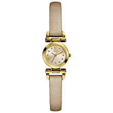 Buy Guess W0125L4 Women's Diamante Dial Leather Strap Watch, Gold Online at johnlewis.com