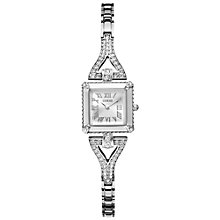Buy Guess W0137L1 Women's Diamante Strap Square Watch, Silver Online at johnlewis.com