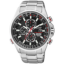 Buy Citizen AT8060-50E Men's Red Arrows Atomic Time World Chronograph Watch, Silver / Black Online at johnlewis.com