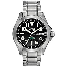 Buy Citizen BN0110-57E Men's Royal Marines Commando Titanium Watch, Silver / Black Online at johnlewis.com