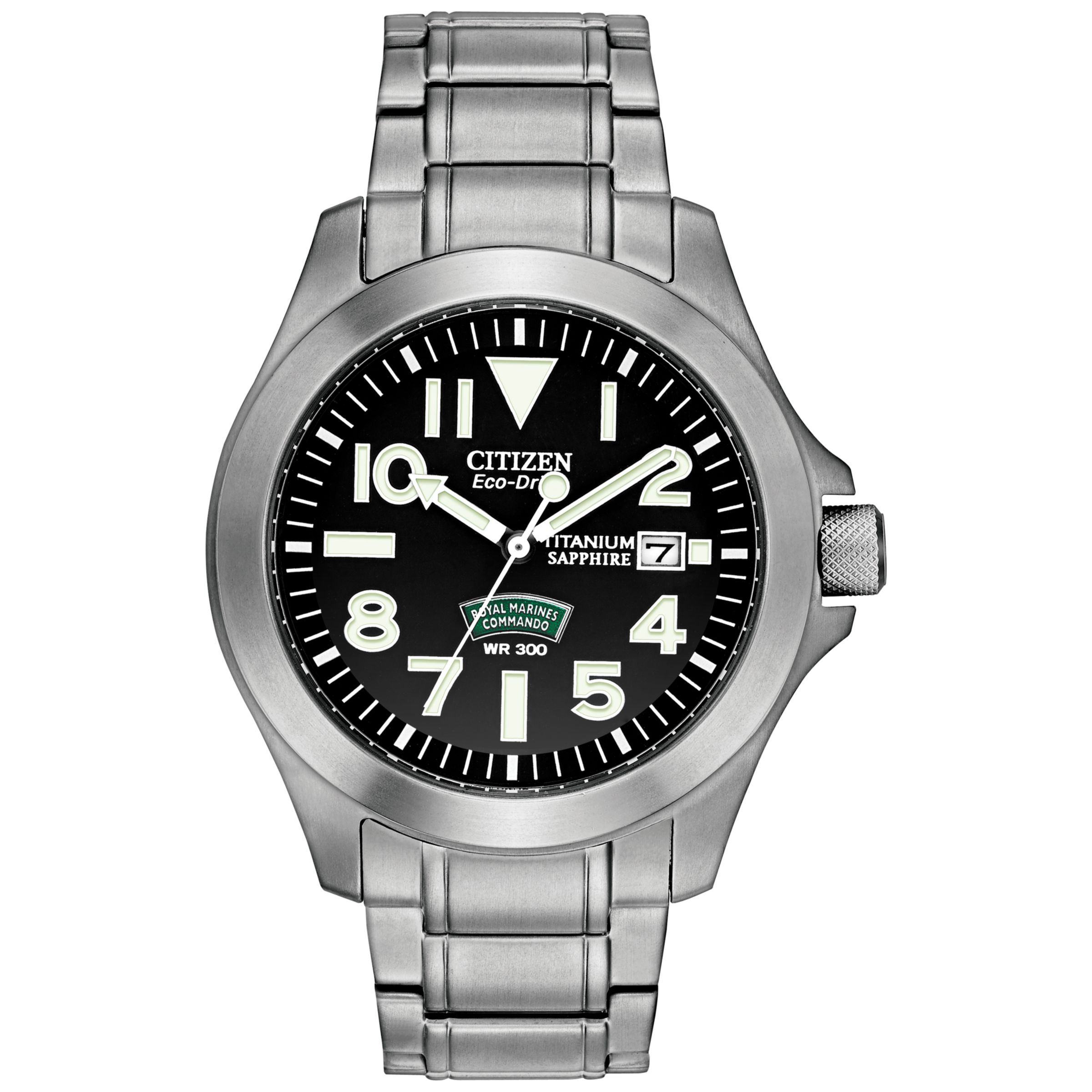 Citizen BN011057E Men&39s Royal Marines Commando Titanium Watch Silver  Black