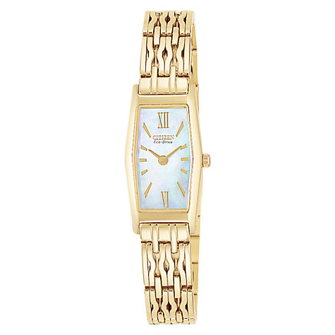 Buy Citizen EG2152-51D Women's Slim Silhouette Eco-Drive Watch, Gold Online at johnlewis.com