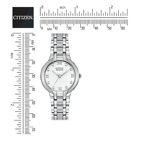 Buy Citizen Eco-Drive EM0130-54A Women's Bella Watch, Silver Online at johnlewis.com