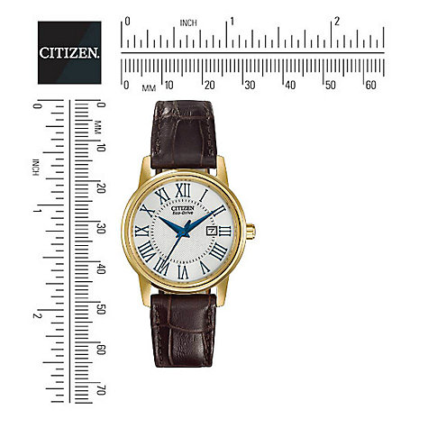 Buy Citizen EW1562-01A Women's Classic Eco-Drive Watch, Brown / Gold Online at johnlewis.com