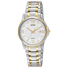 Buy Citizen EW1914-56A Women's Two Tone Stainless Steel Watch, Silver / Gold Online at johnlewis.com