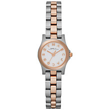 Buy Marc by Marc Jacobs MBM3261 Women's Dinky Henry Two-Tone Watch, Silver / Rose Gold Online at johnlewis.com
