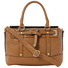 Buy Dune Dea Belt Detail Handbag, Brown Online at johnlewis.com