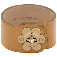 Buy Mulberry Flower Lock Leather Bracelet Online at johnlewis.com