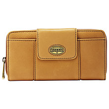 Buy Fossil Explorer Zip Clutch Purse, Light Tan Online at johnlewis.com
