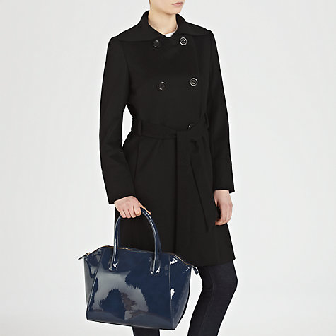 Buy COLLECTION by John Lewis Large Patent Wings Grab Handbag, Navy Online at johnlewis.com