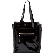Buy John Lewis Shapes Zippy Tote Handbag, Black Online at johnlewis.com