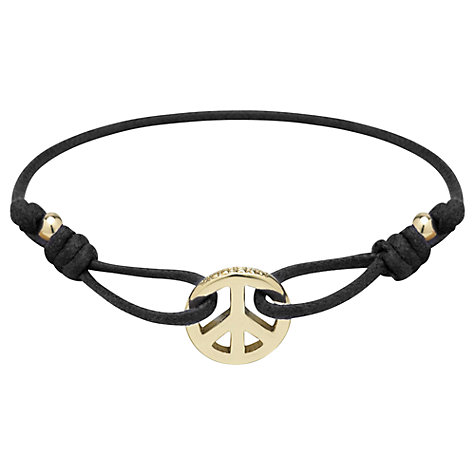 Buy Mulberry Peace Friendship Bracelet, Black Online at johnlewis.com