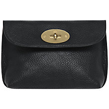 Buy Mulberry Locked Cosmetic Purse, Black-Brass Online at johnlewis.com