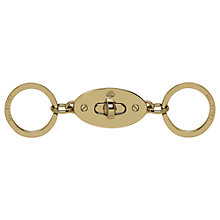 Buy Mulberry Valet Keyring, Soft Gold Online at johnlewis.com
