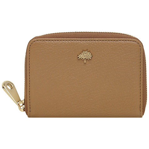 Buy Mulberry Tree Zip Around Leather Purse Online at johnlewis.com