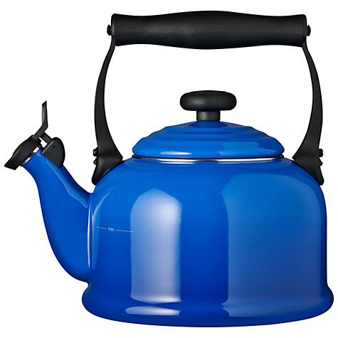 Buy Le Creuset Traditional Stovetop Whistling Kettle, Marseille Blue Online at johnlewis.com