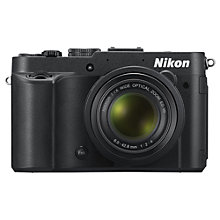"Buy Nikon Coolpix P7700 Digital Camera, HD 1080p, 12.2MP, 7.1x Optical Zoom, 3"" LCD Screen, Black Online at johnlewis.com"