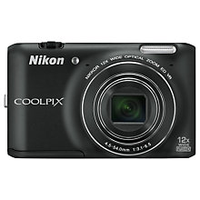"Buy Nikon Coolpix S6400 Camera, HD 1080p, 16MP, 12x Optical Zoom, with 3"" LCD Screen Online at johnlewis.com"
