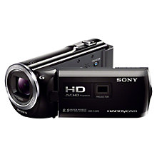 "Buy Sony PJ320E HD 1080p Camcorder, 8.9MP, 30x Optical Zoom, 3"" LCD Screen with Projector Online at johnlewis.com"