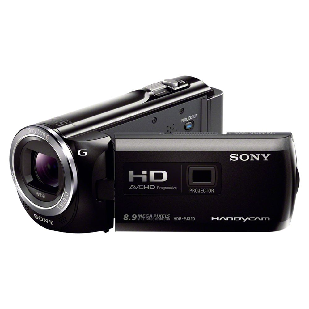 "Sony Pj320e Hd 1080p Camcorder, 8.9mp, 30x Optical Zoom, 3"" Lcd Screen With Projector"