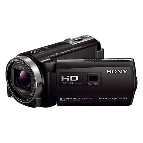 "Buy Sony PJ420VE HD 1080p Camcorder, 8.9MP, 30x Optical Zoom, GPS, 3"" LCD Screen with Projector Online at johnlewis.com"